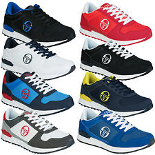 Mens Sergio Tacchini Metric Trainers In Navy And Red           WD