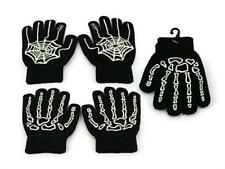 CHILDRENS GLOW IN THE DARK GLOVES Two Styles ~ Ideal For Halloween Parties ~ New