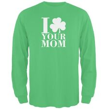St Patricks Day - Shamrock Love Your Mom Green Adult Long Sleeve T-Shirt