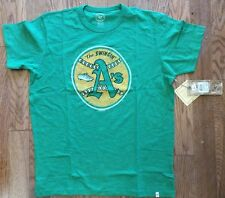 New Authentic Mens 47 Brand Oakland A's Retro Logo Scrum Tee Shirt Athletics