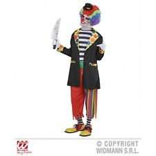 Mens Evil Clown Costume Outfit for Circus Fancy Dress