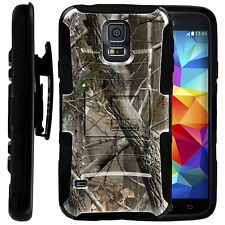 FOR SAMSUNG GALAXY PHONES HEAVY DUTY CASE COVER CLIP HOLSTER Hunters Camo Black