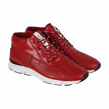 Gourmet Quadici Lite Mens Red Leather Lace Up Sneakers Shoes
