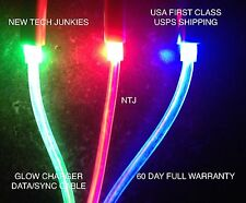 NTJ GLOW POWER CABLE led light-up data sync charger usb for iPhone 5 5S 6 plus