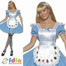 ALICE IN WONDERLAND DECK OF CARDS GIRL - all sizes 8-18 - womens fancy dress