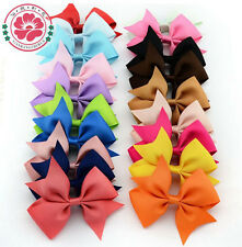 100/500P Wholesale Bobby Girl Baby Hair Bows Ribbon Barrette HairPin Clip Flower