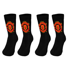 Manchester United FC Official Football Gift 2 Pair Pack Kids Boys Socks
