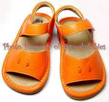 Girls Squeaky Shoes Add-A-Bow Orange NO BOWS with DEFECTIVE Squeakers SALE!