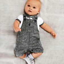 Baby Boy Toddler T-shirt Top+Bib Pants Set Jumpsuit Overall Clothes 0-3Years A50