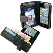 Leather Case Cover чехол with Wallet Flip For iphone 4 4G 4S/For iphone 5 5G 5S