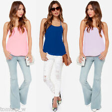 Sexy Women Spaghetti Strap T-shirt Backless Vest Blouse Tank Tops Camisole