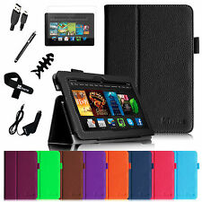 """PU Leather Cover Smart Case Accessories For 2013 Kindle Fire HDX 7 7"""""""