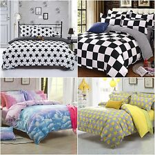 Colourful Doona Duvet Quilt Covers Set Single/Double/Queen Size Bed Pillowcases