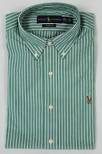 Polo Ralph Lauren Green Stripe Button Down Classic Fit Dress Shirt NWT