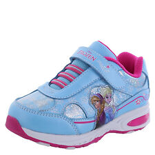 Frozen Girl's Shoes LIGHTED Runner BLUE/PINK