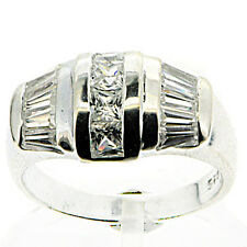 5.2 g Stamped Sterling Silver Beautiful White CZ Ring 7 US Size BELDIAMO