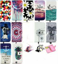 Newest Cute pattern wallet Flip Leather case cover for various Samsung Sony LG