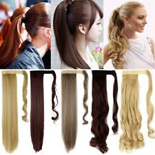 Long Real Thick Women Ladies Wrap Around Ponytail Hair Extensions Piece CU78