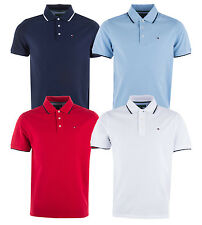 Mens Tommy Hilfiger Pique Polo Shirt In Navy This Designer Polo For Men
