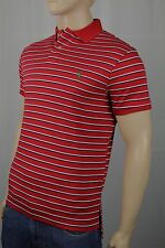 Ralph Lauren Red White Navy Cotton Interlock Polo Shirt Custom Fit NWT
