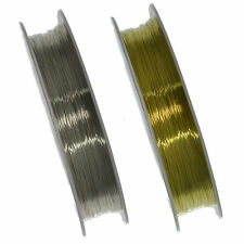 Silver Plated or Gold Copper Wire Jewellery Making, Beading & Craft - 0.3mm-1mm