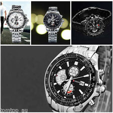 CURREN Stainless Steel Date Water-resistant Sport Mens Wrist Watch Quartz Watch