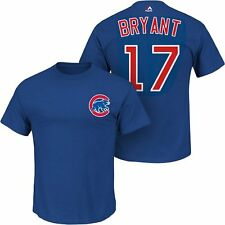 Chicago Cubs Kris Bryant Royal Blue Name and Number T-Shirt