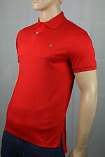 Ralph Lauren Red Pima Cotton Interlock Polo Shirt Classic Fit NWT