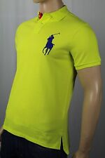 Polo Ralph Lauren Neon Yellow Custom Fit Big Pony Shirt NWT