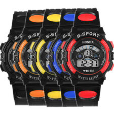 Men's Boys' LED Digital Date Alarm Stopwatch Sports Military Rubber Wrist Watch
