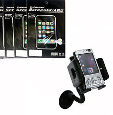 Car Cradle Mount Holder + 6x Screen Protector Film FOR Cell Phones 2015 new