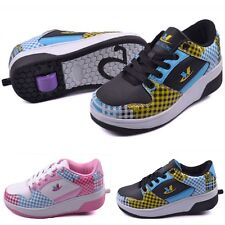 Girl's Boy's Children's Fashion Skate Sneakers With Wheels Sandals Roller Shoes