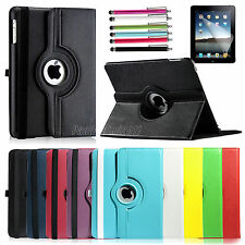 360 Rotating Magnetic PU Leather Cover Stand Case For Apple iPad 1 1st Gen