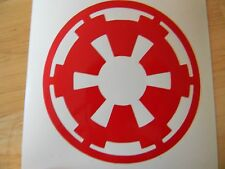 "Vinyl decal sticker Stars Wars Imperial Logo Design #3 Choose your Color 3"" x 3"""