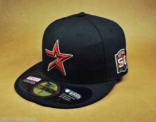 NEW ERA CAP AUTHENTIC HAT ASTROS GAME 50th ANNIVERSARY 2012 100% POLYESTER BLACK
