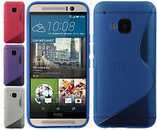 For HTC One M9 TPU CANDY S-Line Flexi Gel Skin Case Cover S-Shape + Screen Guard