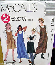 McCall's 8351 Misses Petite-able 2 Hour Cut to Fit Jumper Pattern MANY SIZES VTG