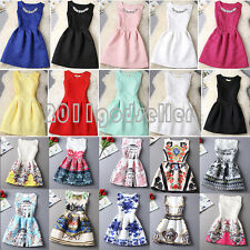 Fashion Printing Womens Sleeveless Bodycon Casual Party Evening Cocktail Dresses