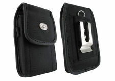 RUGGED - Vertical Canvas Phone Holder Side Belt Clip Holster Cover Pouch Case