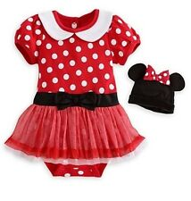 Disney Store Red Minnie Mouse Baby Costume Outfit Size 3-6 6-9 9-12 18-24 Months