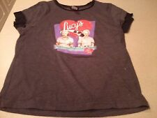 I Love Lucy Ethel & Lucy Chocolate Factory Logo Youth LARGE T - Shirt