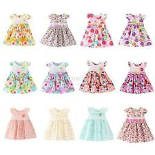 Baby Kids Girl Party Tutu Lace Bow Flower Dress Toddler Princess Mini Skirt 1-4Y