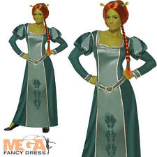 Princesse Fiona + perruque OGRE SHREK mesdames fancy dress costume halloween femme nouveau