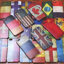 Classical Retro Multi National Flag Hard Case Back Cover For Apple iPhone 5 5S