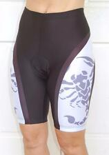 Ladies Women Cycling Bike Knicks Padded Pants Shorts Black Purple Trim
