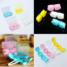 Mini Plastic Candy Color Contact Lens Soaking Case Box Container Storage Holder