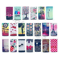 For Nokia Phones Patterned Universal Faux Leather Card Pouch Case Cover Skin#E5