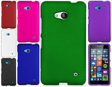 For T-Mobile Nokia Lumia 640 Rubberized HARD Protector Case Cover +Screen Guard