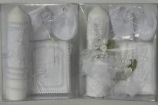 New Baptism Christening Candle Box Gift Set For Boys or Girls English or Spanish
