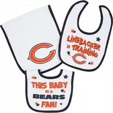 Gerber Chicago Bears Baby Infant 2 Bibs & 1 Burp Cloth Set - FREE SHIPPING